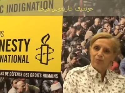 genevieve garigers head of Amnesty International in France .. talking about the truth about rumors of the mercenaries promoted by the media at the