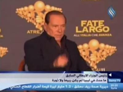 Berlusconi: what happened in Libya was neither spring nor revolution and France has fought the war for oil and gas 27